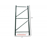 Steel King 42″D x 240″H Pallet Rack Frame Pallet Rack Now