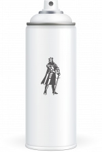 Poppy Orange Spray Paint Can - Steel King