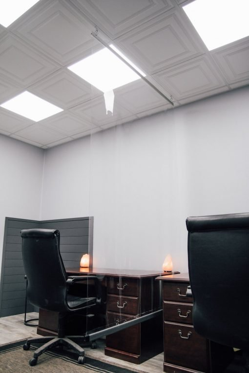 hanging ceiling partition