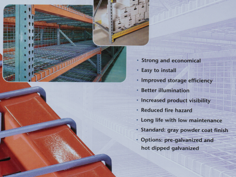 PA Pallet Rack Wire Decking